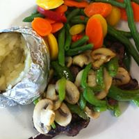 Baked potato veggies