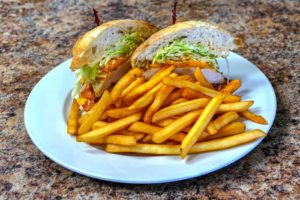 Clubhouse Sandwich and Fries