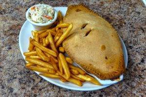 Pot Pie and Fries